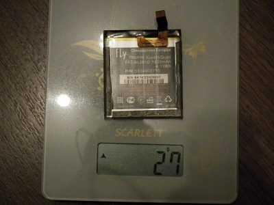 Вес оригинального аккумулятора BL3810