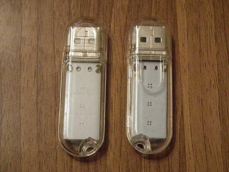 USB-лампа вид с обратной стороны