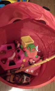 Тряпочный контейнер органайзер под одежду и игрушки