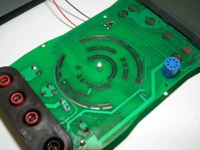 Плата версии 2.1 мультиметра HoldPeak HP-890CN - контакты переключателя