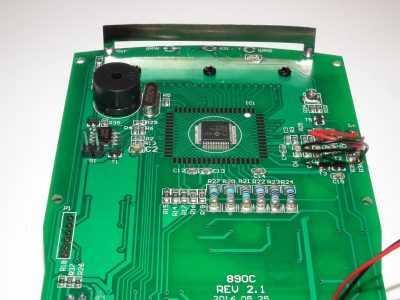 Плата версии 2.1 мультиметра HoldPeak HP-890CN - процессор