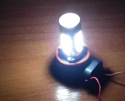 Как светит светодиодная лампочка H11