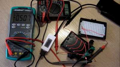Ток потребления фонаря Ulanzi 96 LED от microusb разъёма