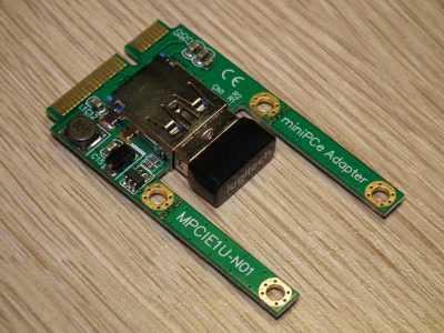 Карта расширения mini PCI-E с разъёмом USB и беспроводной адаптер мыши