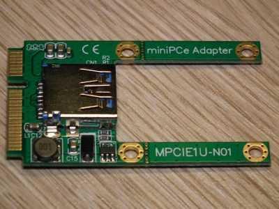 Карта расширения mini PCI-E с разъёмом USB модель MPCIE1U-N01