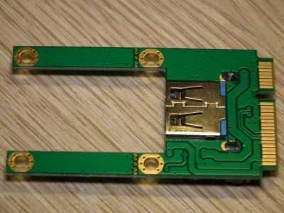 Карта расширения mini PCI-E с разъёмом USB 2.0