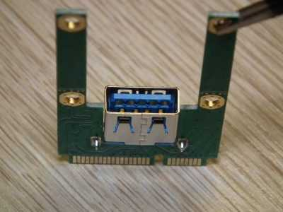 Разъём USB 3.0 карты расширения mini PCI-E