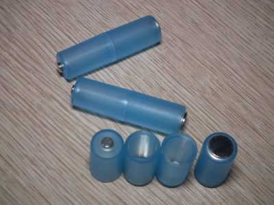 Комплект адаптеров с ААА до АА синего цвета