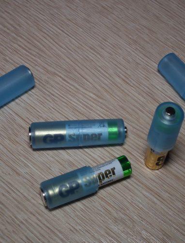 Адаптеры батареек с ААА до АА (с мизинчиковых до пальчиковых)